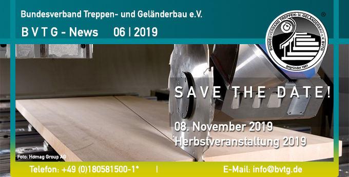 BVTG Newsletter 2019/06: Herbstveranstaltung 2019